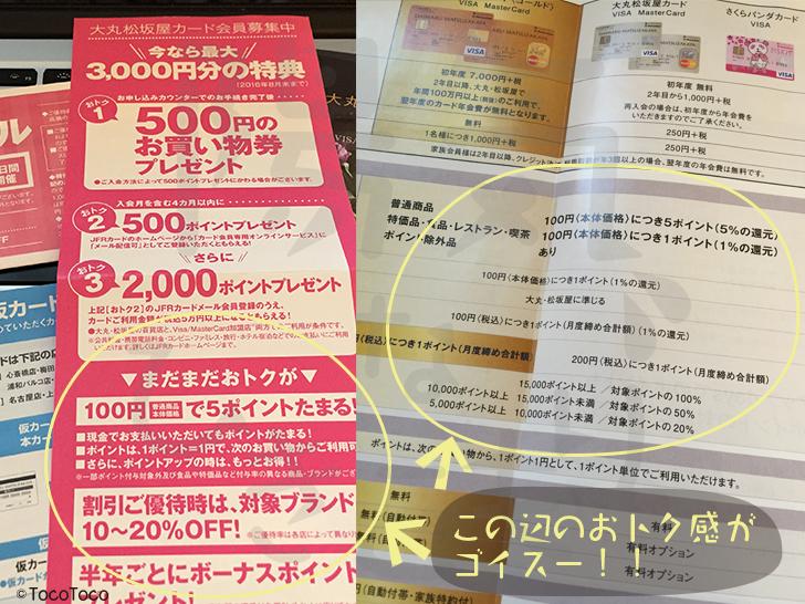 大丸・松坂屋カード冊子